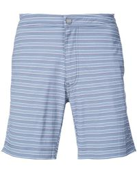 "Onia - Calder 7.5"" Striped Swim Trunks - Lyst"