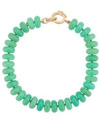 Irene Neuwirth 18kt Yellow Gold Bead Bracelet - Green