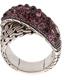 John Hardy - Classic Chain Overlap Ring - Lyst
