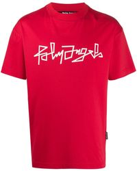 Palm Angels Desert Logo T-shirt Red