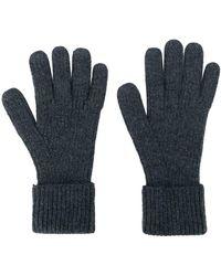 N.Peal Cashmere Перчатки В Рубчик - Серый