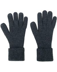N.Peal Cashmere カシミア ニット手袋 - ブルー