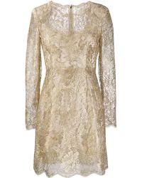 Dolce & Gabbana - Платье Из Цветочного Кружева - Lyst