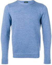 Zanone - Crew Neck Sweater - Lyst