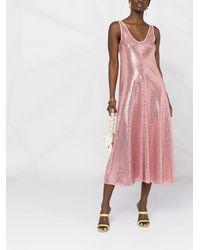 Forte Forte Платье Миди С Пайетками - Розовый