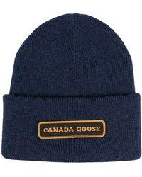 Canada Goose Шапка Бини С Нашивкой-логотипом - Синий