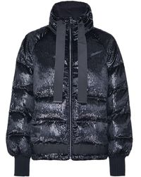 Pinko - Metallic-striped Puffer Jacket - Lyst
