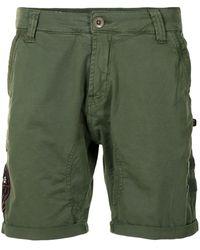 Alpha Industries Cotton Bermuda Shorts - Green