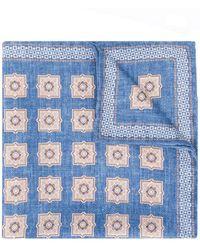 Brunello Cucinelli All-over Print Handkerchief - Blue