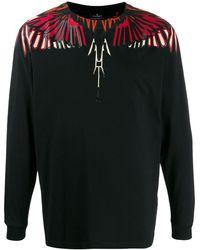 Marcelo Burlon Wings Print Sweatshirt - ブラック