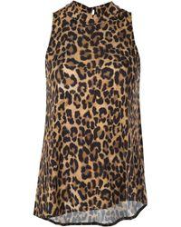 Nicole Miller - Furry Leopard Blouse - Lyst