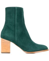 Christian Wijnants Suede Ankle Boots - Green
