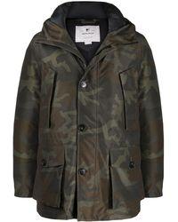 Woolrich Куртка С Камуфляжным Принтом - Зеленый