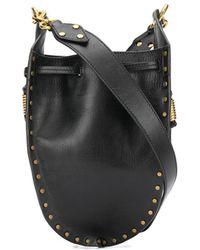 Isabel Marant Radja Studded Bucket Bag - Black