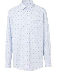 Burberry Set de camisa y corbata con monograma - Azul