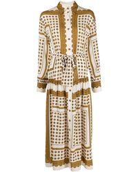 Zimmermann プリント シャツドレス - マルチカラー