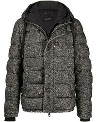 Dolce & Gabbana フーデッド パデッドジャケット - ブラック