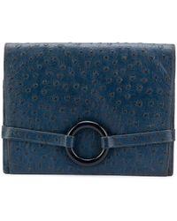 Dior リングディテール クラッチバッグ - ブルー