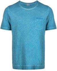 Massimo Alba ダメージ Tシャツ - ブルー