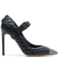 Valentino - Quilted Ankle Strap Pumps - Lyst