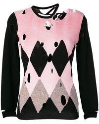 Ballantyne - Distressed Diamond Sweater - Lyst