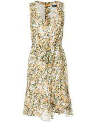 Isabel Marant side tie V-neck dress Footaction Cheap Online 12sbm