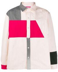 Diesel Red Tag Hemdjacke in Colour-Block-Optik - Mehrfarbig