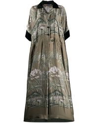 Sacai - トロピカルプリント シャツドレス - Lyst