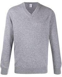 Eleventy V-neck Cashmere Sweater - Gray