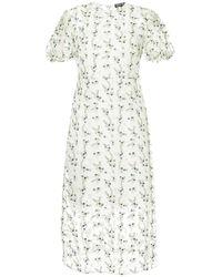 Markus Lupfer - Floral Embroidered Sheer Dress - Lyst