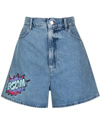 Emporio Armani Pantalones vaqueros cortos BOOM - Azul