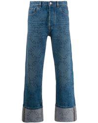 Valentino Denim Jeans Op Omgeslagen Pijpen - Blauw