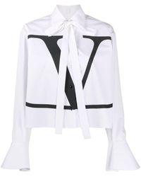 Valentino Рубашка С Логотипом Vlogo - Белый