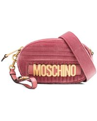 Moschino - Quilted Logo Belt Bag - Lyst
