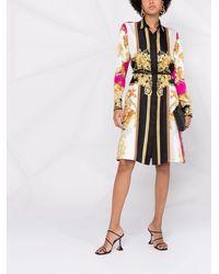 Versace Платье-рубашка С Принтом Medusa Renaissance - Многоцветный
