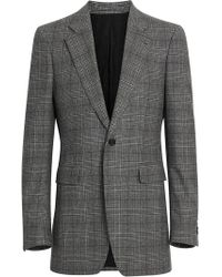 Burberry - Slim Fit Prince Of Wales Check Wool Tailored Jacket - Lyst
