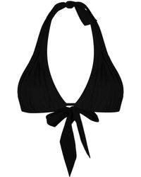 Carine Gilson トライアングルトップ - ブラック