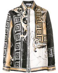 2be4f3d5c3c09 Versace - Mixed Print Shirt - Lyst