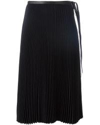 Valentino - Pleated Skirt - Lyst