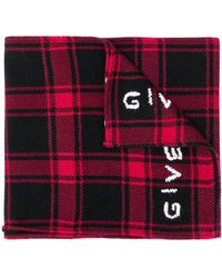 Givenchy Geruite Sjaal - Rood