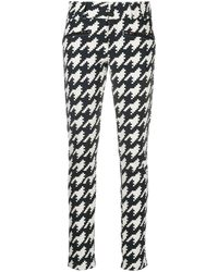Perfect Moment Aurora Houndstooth Print Skinny Trousers - Black