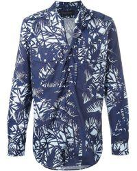Christian Pellizzari - Patch Pocket Printed Shirt - Lyst