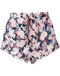 Gilda & Pearl - Jardin-print Shorts - Lyst