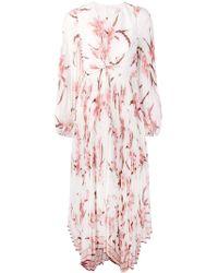 Zimmermann Плиссированное Платье С Перекрученной Деталью Спереди - Белый