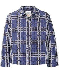 Coohem Country-tartan Tweed Jacket - Blue