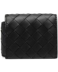 Bottega Veneta Бумажник С Плетением Intrecciato - Черный