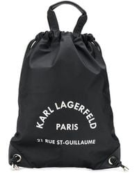 Karl Lagerfeld Рюкзак Rue St Guillaume На Шнурке - Черный