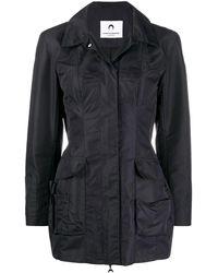 Marine Serre Куртка-рубашка С Длинными Рукавами - Черный