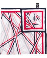 Rossignol Flap Print Scarf - White