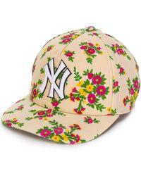 Gucci Ny Yankees Floral Cap - Multicolour